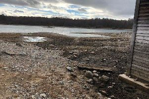 The loch near Aviemore, lost a dramatic amount of water betweenSeptember 2018 and May 2019. Picture: swns