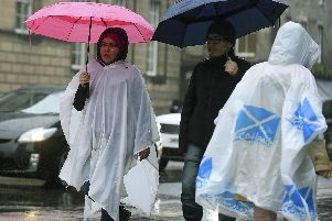 The Met Office has issued a yellow weather warning to Scotland today, as heavy rain is set to hit (Photo: Lisa Ferguson)