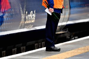 The busy line was closed down temporarily after a person was struck by a train between Greenock and Gourock. Picture: PA