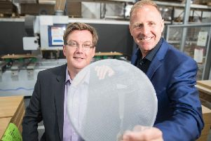 Scott Webb of UKSE and Stephen Connachan, Aquapac Limited. Picture: Contributed