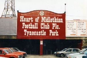 The iconic entrance which once graced the Gorgie Road end at Tynecastle.
