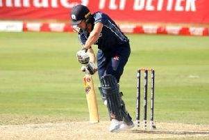 Scotland batsman Calum MacLeod made just one run before falling to a controversial lbw verdict. Picture: ICC