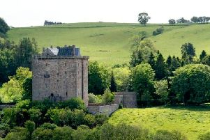 Borthwick Castle near Edinburgh is available for rent this Christmas.