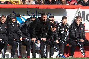 McInnes has come in for criticism from the Aberdeen fans. Picture: SNS