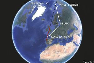 The cockpit instruments showed the plane was near the North Pole. Picture: AAIB