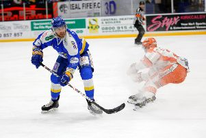 Fife Flyers v Sheffield Steelers. Scott Aarssen. Pic: Steve Gunn