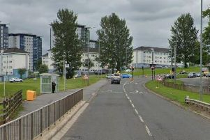 A blue Ford Focus and a blue Volkswagen Golf were involved in the collision at around 8.15pm on Sunday on the A749 Cathkin Bypass at Cambuslang.