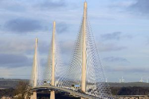 The collision occurred south of the Queensferry Crossing