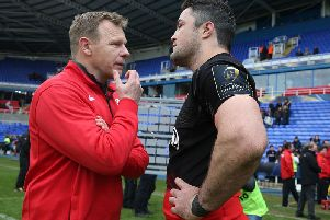 Saracens director of rugby Mark McCall and skipper Brad Barritt did not face the media at today's Heineken Champions Cup launch in Cardiff. Picture: Getty Images