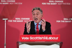 Richard Leonard speaks at the official launch of the Scottish Labour general election campaign at Maryhill Burgh Halls in Glasgow today. Picture: John Devlin
