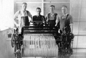 Weavers produce Orkney Tweed which was marketed as a legacy of the islands' rich Viking heritage. PIC: Courtesy of Orkney Library and Archive.
