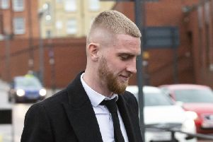 Oli McBurnie was breathalysed after being stopped by police officers in October.
