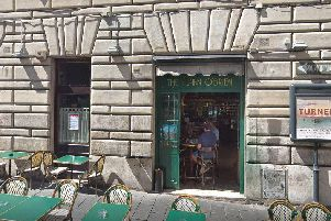 The attack happened outside The Flann O'Brien pub in Rome. Picture: Google