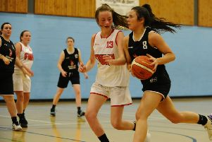 Falkirk Fury senior women in action