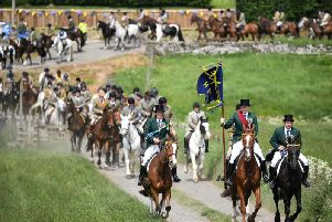 Hawick Common Riding celebrates the history of the Borders town (pictured) but the historic festival is now at the centre of sexism claims following complaints from some women. There is no suggestion that anyone pictured is linked to any allegation.