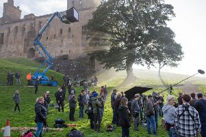Filming for Outlaw King in summer 2018 at Linlithgow Palace