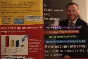 Mr Murray's campaign leaflet.