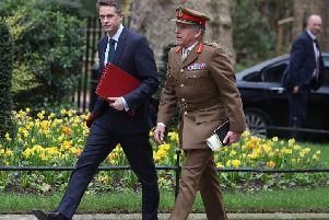 General Sir Nick Carter, Chief of the Defence Staff (right)