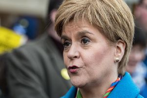 """Climate change is the single biggest challenge facing the world - and the next UK government has to take radical action,"" said Ms Sturgeon. Picture: John Devlin / JPIMEDIA"