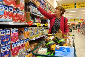 Woman shopper shopping in Morrisons. Picture:  David Bagnall/Shutterstock