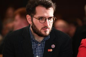 Paul Sweeney at Scottish Labour's general election launch