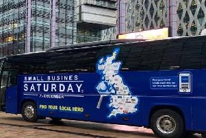 The Small Business Saturday bus tour will stopoutside the Scottish Parliament and inAuchterarder. Picture: Contributed