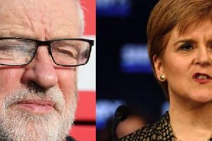 Mr Corbyn kicked off a two-day tour of Scotland in Glasgow on Tuesday aiming to help his party retake some of the seats it lost to the SNP landslide in the 2015 general election. Picture: PA