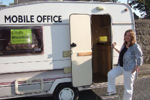Former MP Dr Eilidh Whiteford hits the road in Banff and Buchan in a mobile office