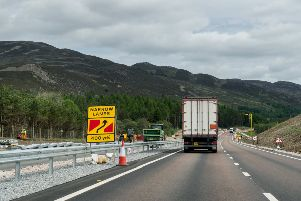 The dualling of the A9 continues apace. Picture: John Devlin