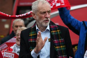 Mr Corbyn asked the man if he could return to the question after he had finished his speech at Queens Hotel in Dundee on Thursday. Picture: John Devlin