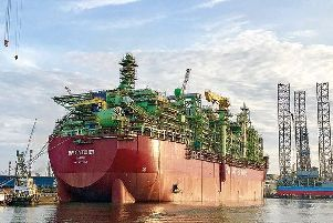 The Catcher FPSO before it was moved to position in the North Sea. Picture: Premier Oil