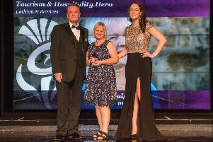 Anne Daly, who runs specialist tours for Outlander fans, was named a tourism and hospital hero at the Thistle Awards ceremony.