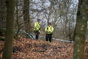 Police were called to the busy Glasgow park after reports of a man acting strange were called in. Picture: John Devlin
