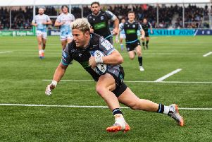 DTH Van Der Merwe goes over for Glasgow