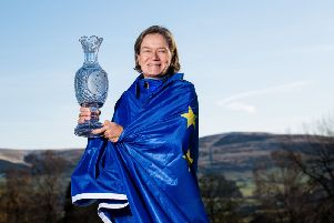 Catriona Matthew, reappointed this week as Europe's Solheim Cup captain, hopes to see Carly Booth build on her recent success. Photograph: Ross Parker/SNS