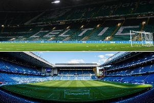 Celtic and Rangers have two of the highest average attendances in world football. Picture: SNS