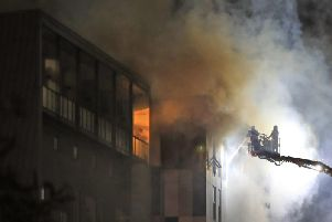 Bolton student accommodation ablaze.