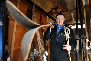 Former Marine Mick Tighe has now skied on over 120 of Scotland's Munros. PIC: Jane Barlow