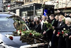 Emotional staff stopped mid-shift to pay their respects to much-loved Tom.