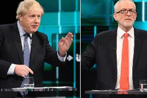 Johnson and Corbyn faced an angry audience in tonight's ITV debate