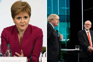 """Ms Sturgeon, who was mentioned several times in the debate despite not taking part in it, said she did not believe either man was fit to be PM """"on the strength of these performances"""". Pictures: PA"""