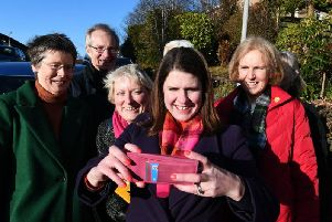 Liberal Democrat leader Jo Swinson campaigning in Scotland