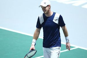 Andy Murray in action against Tallon Griekspoor in Madrid