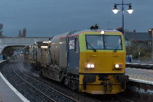 Network Rail's leaf-buster trains travelled further than ever in Scotland this autumn. Picture: Scotland's Railway