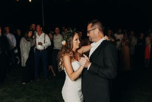 Kourtney Young, from Colorado in the US, married Tanner Krietemeier at the beginning of October, and had no idea her mother had arranged an emotional surprise for her big day.