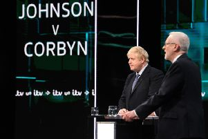 Boris Johnson and Jeremy Corbyn provided some less than compelling television in the ITV Leaders Debate (Picture: Jonathan Hordle//ITV via Getty Images)