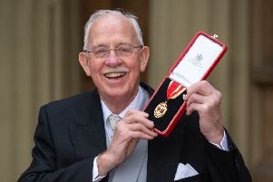 Sir Boyd Tunnock with his knighthood following the investiture ceremony at Buckingham Palace. Picture: Dominic Lipinski - WPA/Getty Images