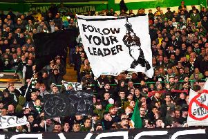 Celtic fans displayed banners that incurred UEFA's wrath in the 2-1 home win over Lazio