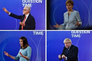 Jeremy Corbyn, Nicola Sturgeon, Jo Swinson and Boris Johnson faced tough questioning from the audience in Sheffield. Pictures: PA