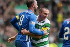 Kris Boyd and Scott Brown in action in 2016. Picture: SNS
